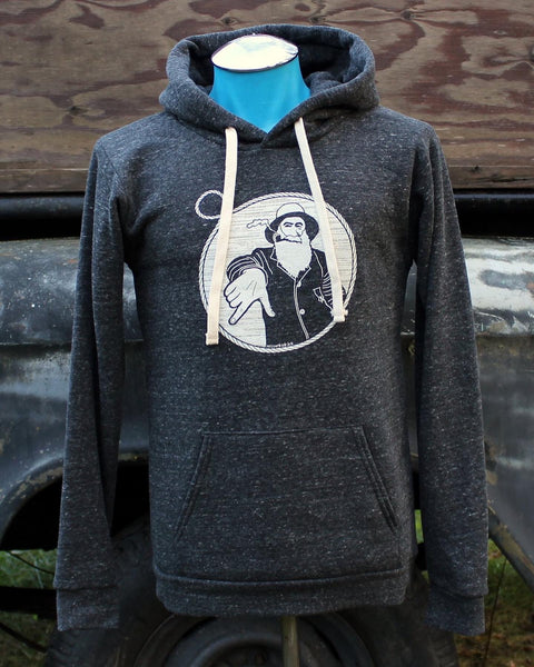 Captain Doug Pullover Hoodie in Charcoal