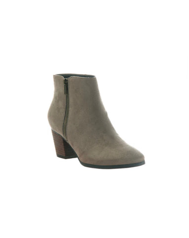 Taupe Heeled Ankle Boot