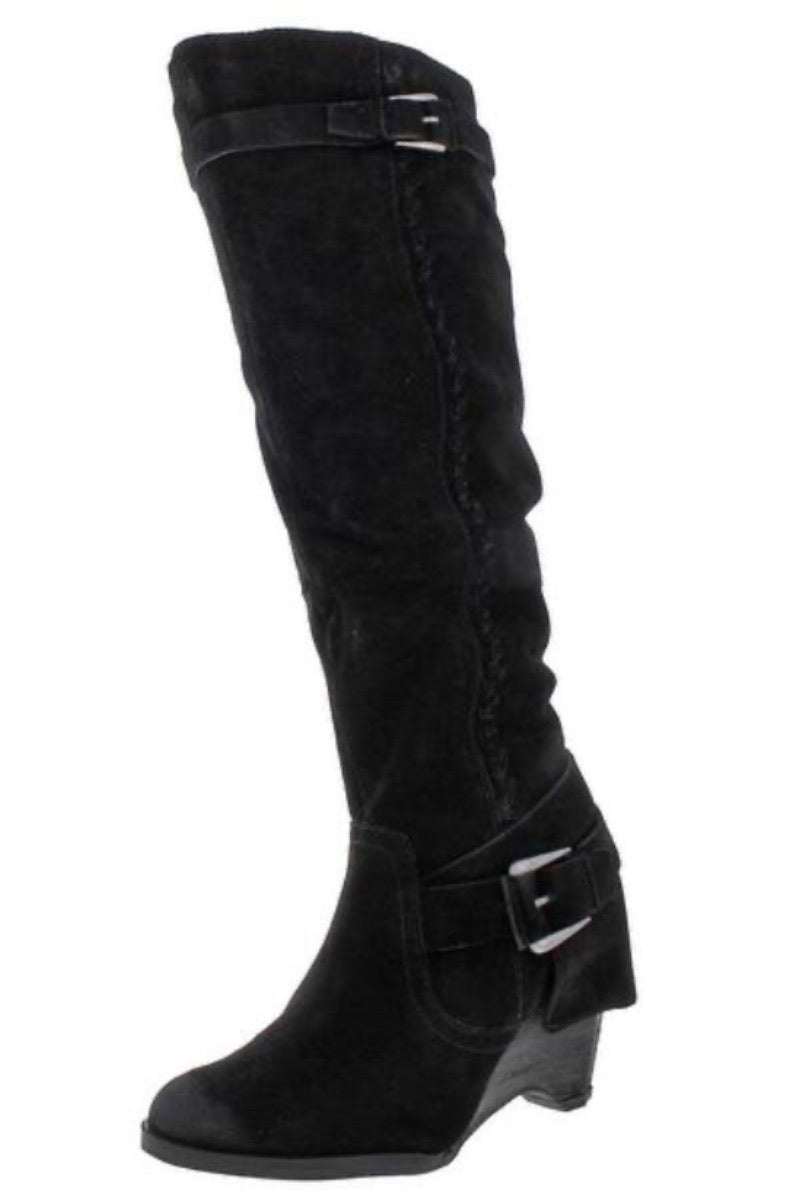 Black Double Up Boot w/ Buckles