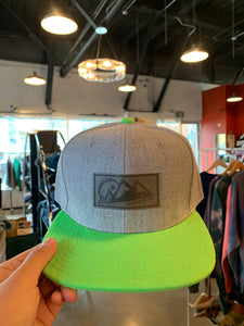 Alaskiwear Adult Trucker - Light Grey w/ Lime BIll