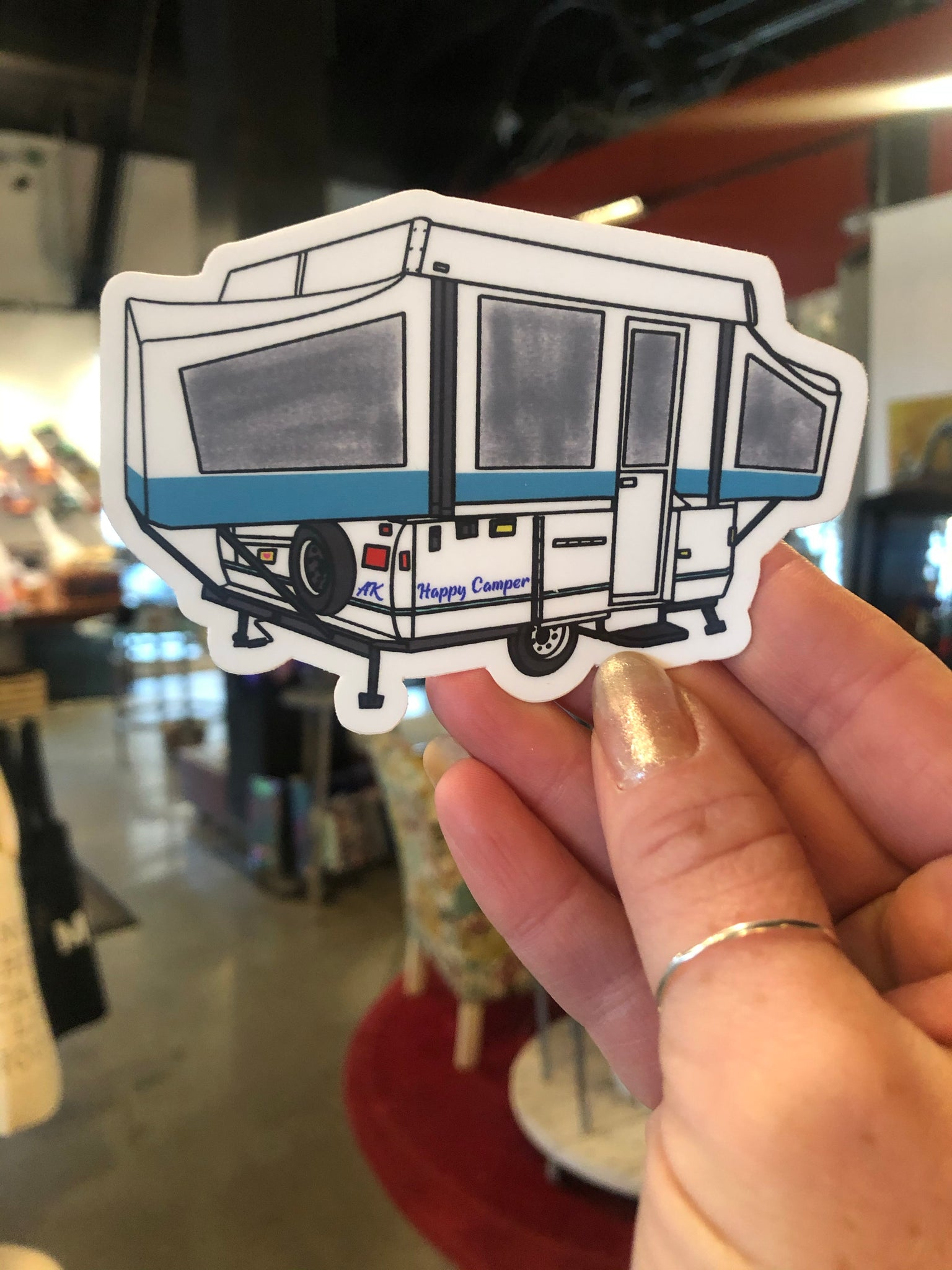 Pop Up / Happy Camper Sticker