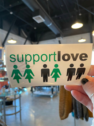 Support Love Stickers
