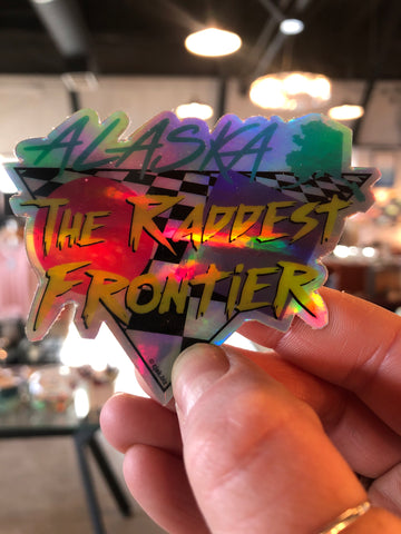 Alaska The Raddest Frontier Foil Sticker