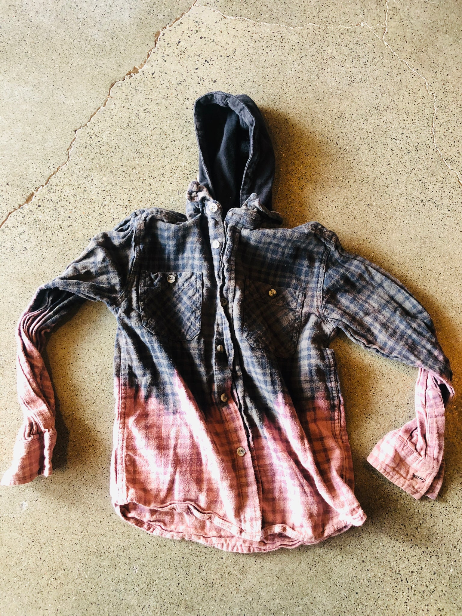 Sun Moon Flannels - Kids Hooded S