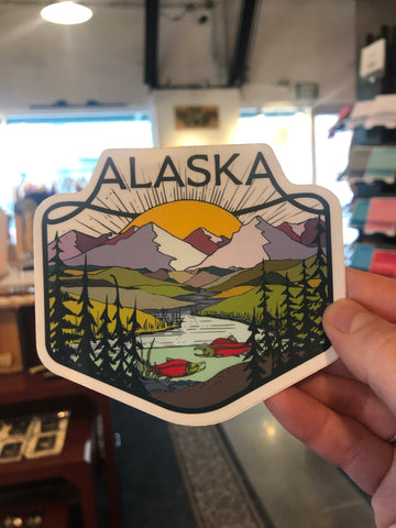 Alaska Scenery Sticker