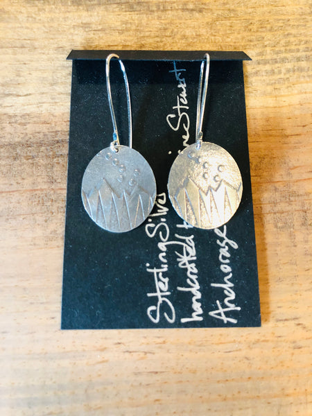 Round Dipper Sterling Silver Earrings