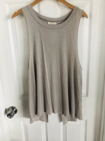 Taupe Open Back Tank