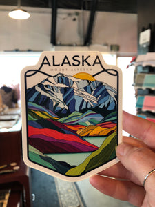 Alaska Mount Alyeska Sticker