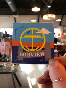 Fairview Stand Up Sticker