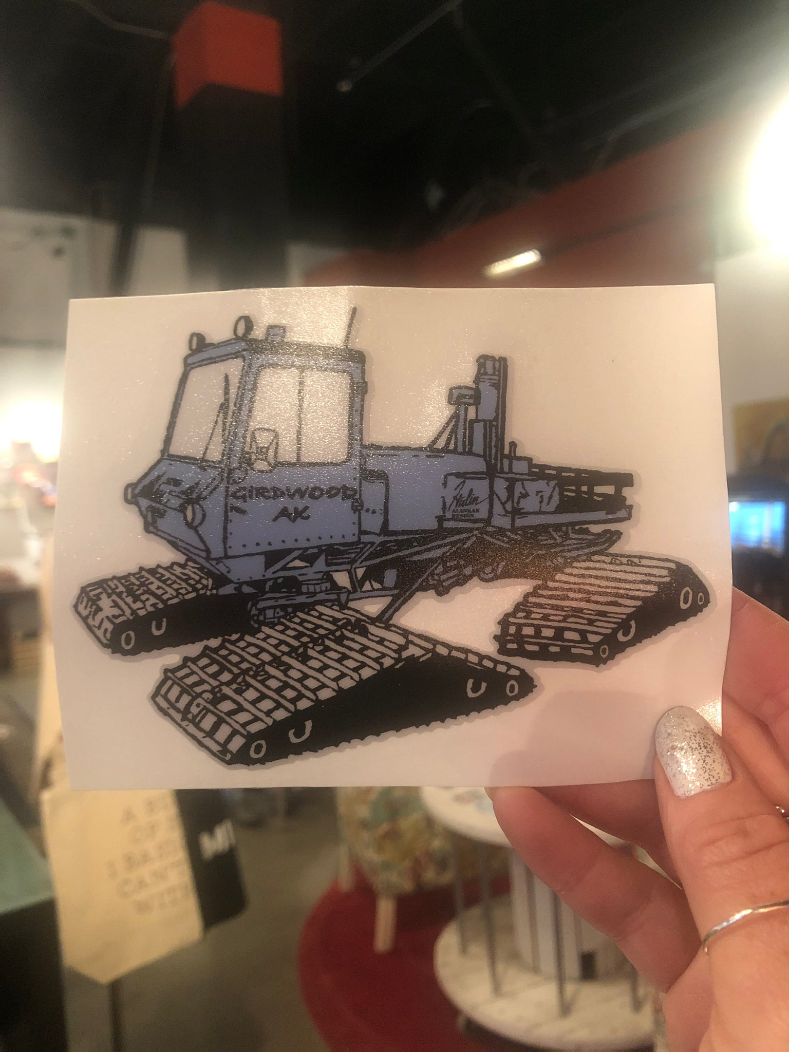 Snow Cat Sticker