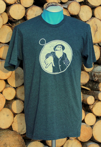 Captain Doug T Shirt in Black Aqua