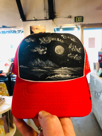 AK Art Factory - Red / Moonlit Waves