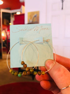 Beaded Hoops by Selkie Moon