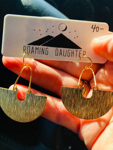 "Brass ""U"" Earrings"