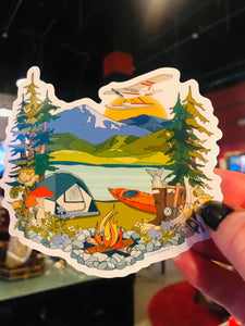 Summer in Alaska Sticker