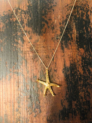 S Starfish Necklace