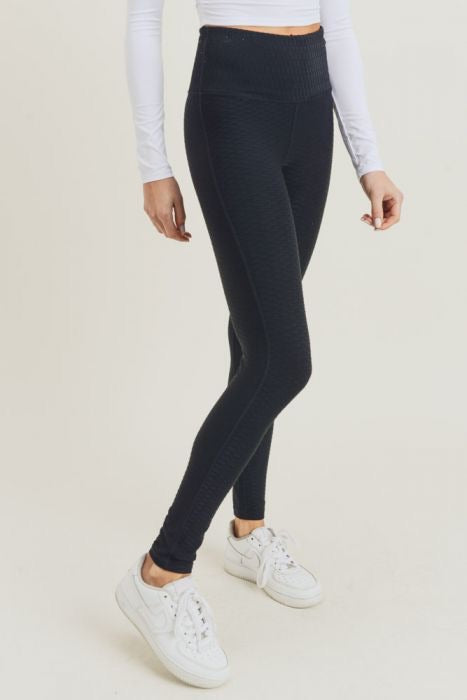 Textured Jacquard Lyrca Leggings