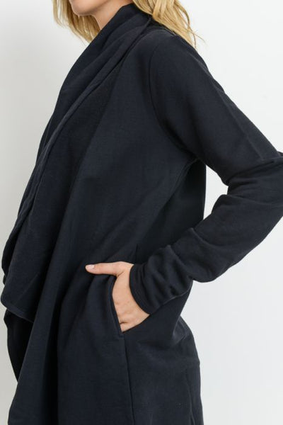 Open Front Cardi w/Thumb Holes