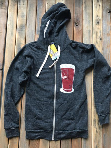 Pint Hoodie Charcoal - Hulin Designs
