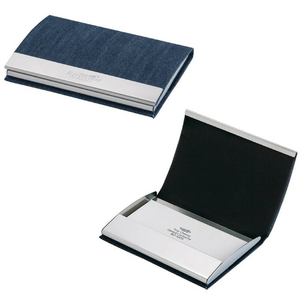 Utah Denim Business Card Case - FlywheelPromotions.com
