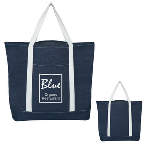 Denim Shopping Tote Bag - FlywheelPromotions.com
