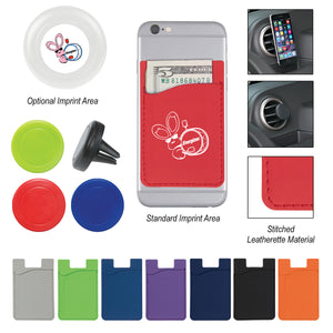 Magnetic Air Vent Phone Wallet - FlywheelPromotions.com