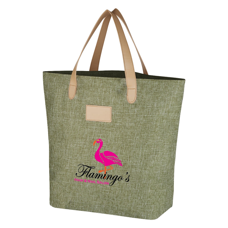 Heathered Fashion Tote - FlywheelPromotions.com