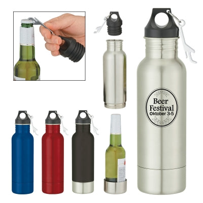 Bottle Armour Steel Bottle Coozie - FlywheelPromotions.com
