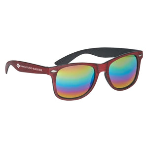 The Malibu's - Woodtone Mirrored Sunglasses - FlywheelPromotions.com