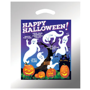 Reflective Halloween Trick-or-Treat Bag with Stock Designs - FlywheelPromotions.com