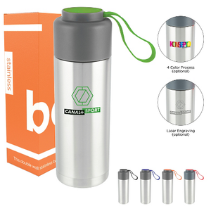 Capsule 18oz. Stainless Steel Double Wall Bottle - FlywheelPromotions.com