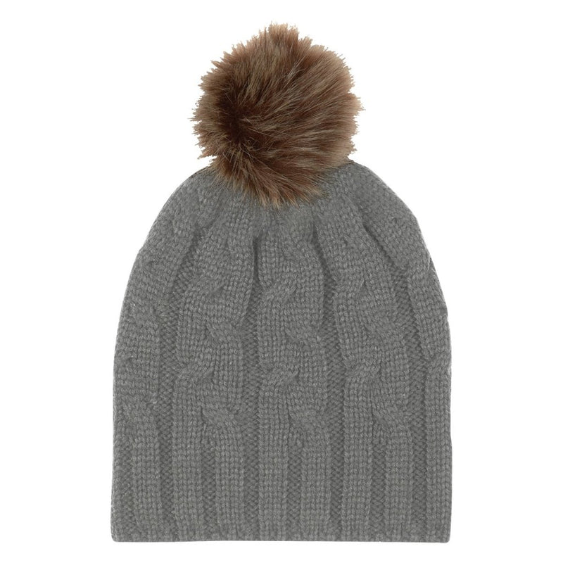 Cameron Cable Knit Pom Beanie - FlywheelPromotions.com