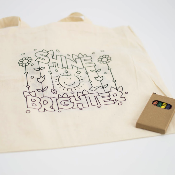 Color Your Own Canvas Tote Bag - FlywheelPromotions.com