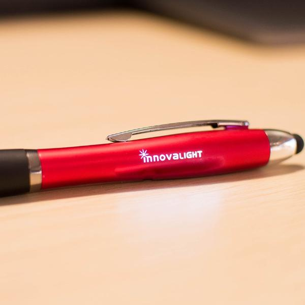 Signal Twist Action Stylus Pen w/ Light-Up Logo - FlywheelPromotions.com