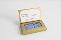 Business Card Holder with Ghirardelli Squares Inside - FlywheelPromotions.com