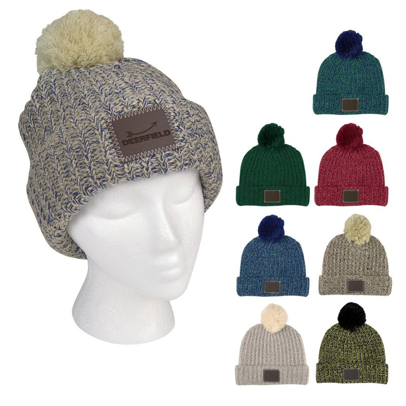 Grace Collection Pom Beanie with Cuff - FlywheelPromotions.com