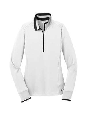 Nike Ladies Dri-FIT 1/2-Zip Cover-Up_White/Black