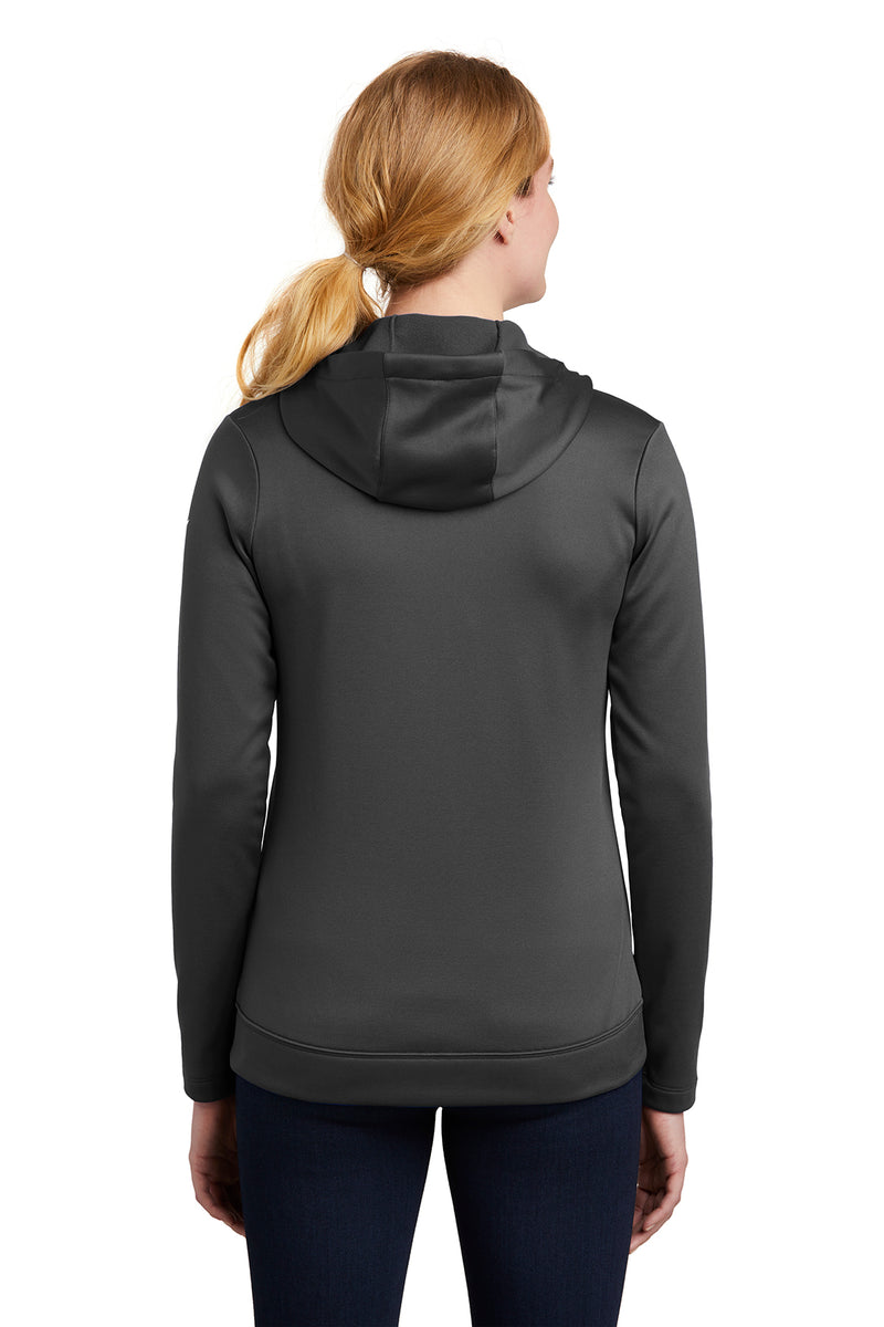Nike Ladies Therma-FIT Full-Zip Fleece Hoodie_Anthracite