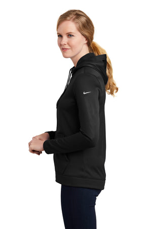 Nike Ladies Therma-FIT Full-Zip Fleece Hoodie_Black
