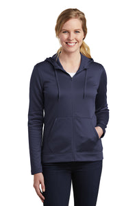 Nike Ladies Therma-FIT Full-Zip Fleece Hoodie_Midnight Navy