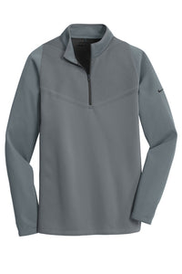 Nike Therma-FIT Hypervis 1/2-Zip Cover-Up_Dark Grey/Black