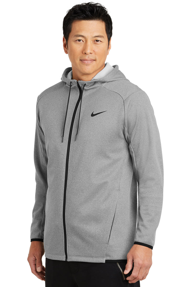 Nike Therma-FIT Textured Fleece Full-Zip Hoodie_Gray