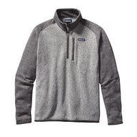 Patagonia Men's Better Sweater 1/4 Zip_Nickel with forge grey