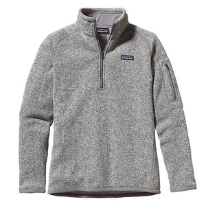 Patagonia Women's Better Sweater 1/4 Zip_Birch White