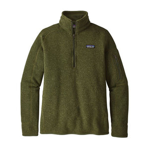 Patagonia Women's Better Sweater 1/4 Zip_Nomad Green