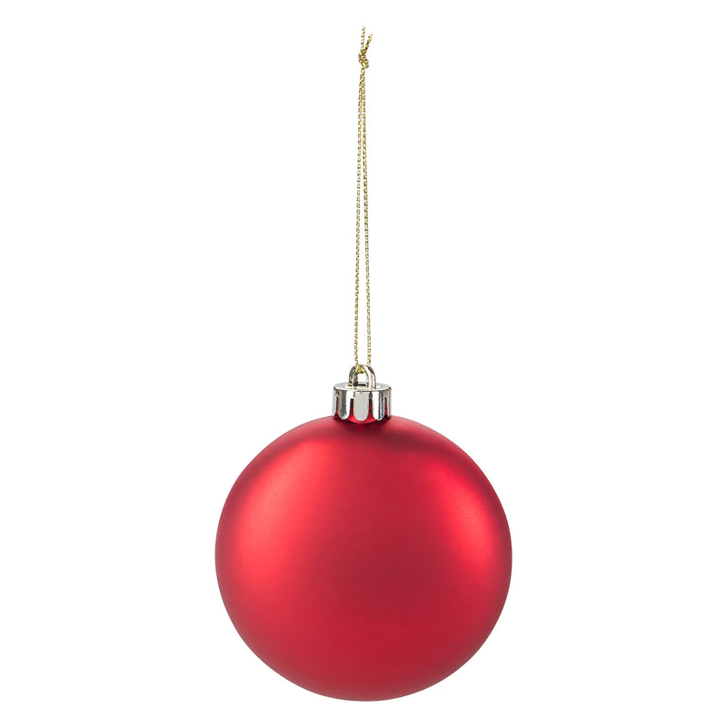 Round disc ornament - Red