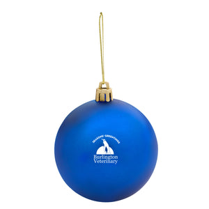 Round Ball Tree Ornament - Blue