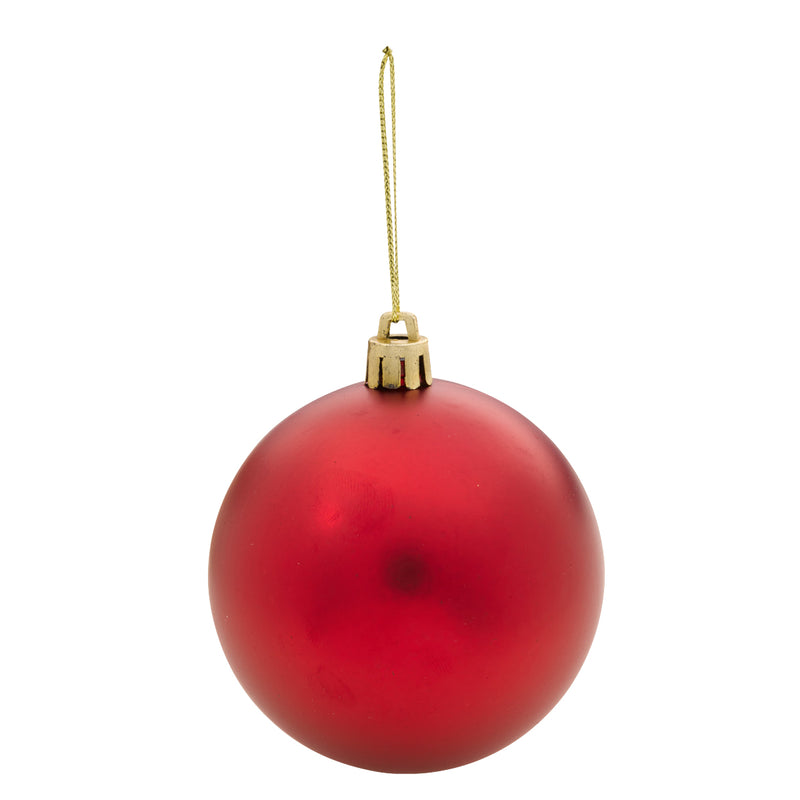 Round Ball Tree Ornament - Red