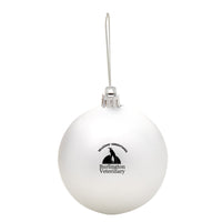 Round Ball Tree Ornament - Silver