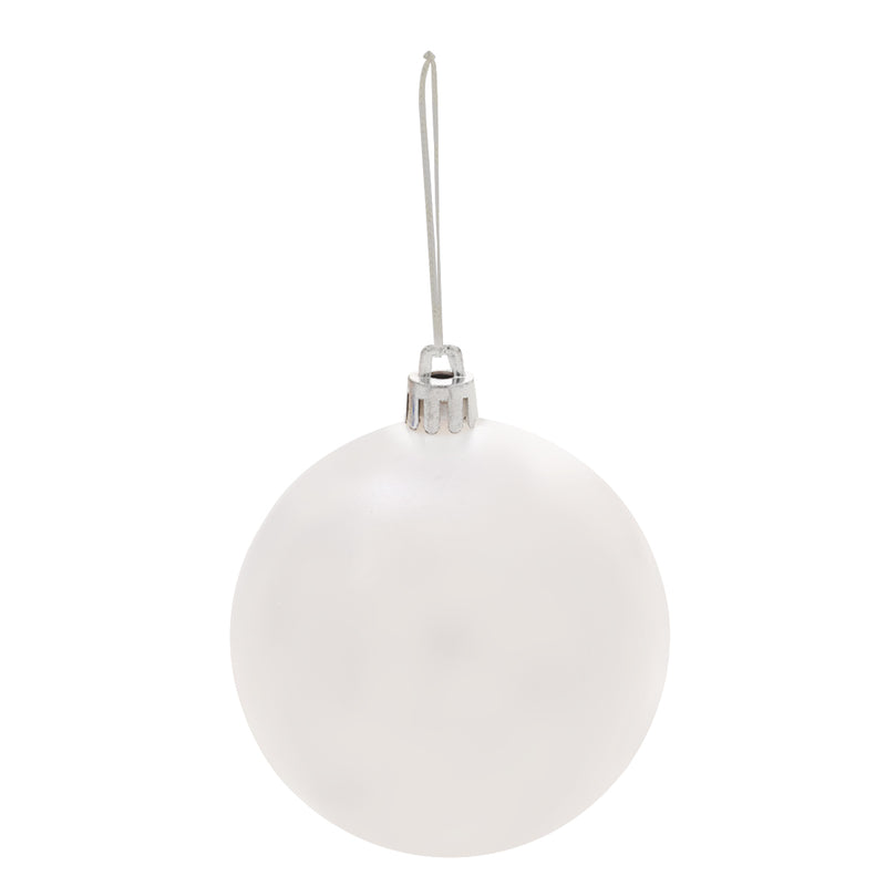Round Ball Tree Ornament - White